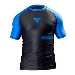 Ground Force Rank Rashguard SS Blue