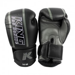 King Pro Boxing KPB BG Elite 1 Boxhandschuhe Leder Grey