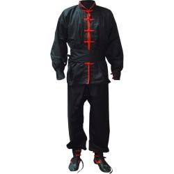 Kung Fu Anzug Schwarz Rot Junior