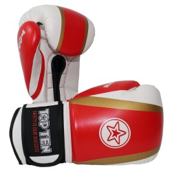 Top Ten Star and Stripes Boxhandschuhe Rot Gold