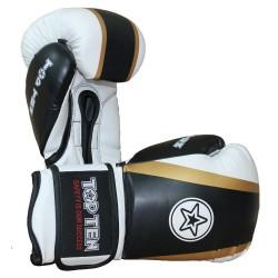 Top Ten Star and Stripes Boxhandschuhe Schwarz Gold