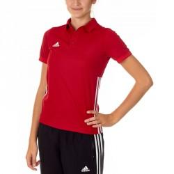 Abverkauf Adidas T16 Team Polo Kids Power Rot Weiss AJ5247