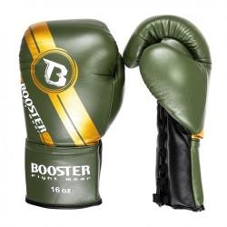 Booster BGL V3 New Laced Boxhandschuhe Black Green Leder