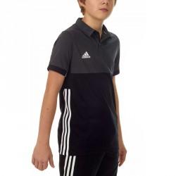 Adidas T16 Climacool Polo Jungen Schwarz Grau AJ5470