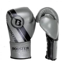 Booster BGL V3 New Laced Boxhandschuhe Black Grey Leder