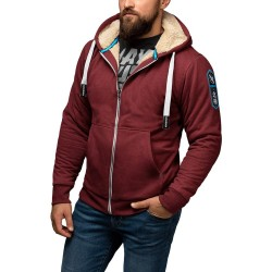Hayabusa Arctic Heavyweight Zip Hoody Burgundy
