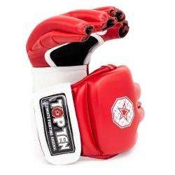 Top Ten C Type MMA Striking Gloves Rot Weiss