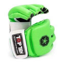 Top Ten C Type MMA Striking Gloves Grün Weiss