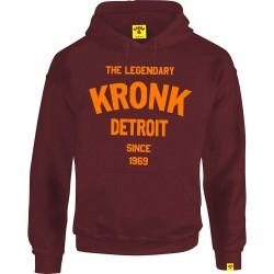 Kronk Legendary Detroit Since 69 Hoodie Maroon