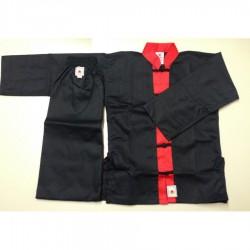 Kung Fu Anzug Schwarz Rot DAN Shaolin