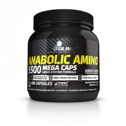 Abverkauf Olimp Anabolic Amino 5500 Mega Caps 400Caps.