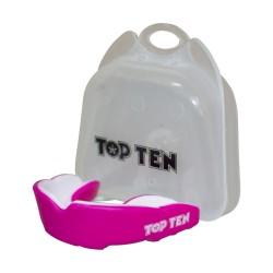 Top Ten Zahnschutz Combat TPR rosa weiss