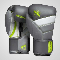 Hayabusa T3 Boxing Gloves Charcoal Lime