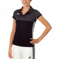 Abverkauf Adidas T16 Climacool Polo Damen Schwarz Grau AJ5475