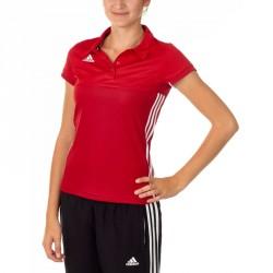 Adidas T16 Climacool Polo Damen Power Scarlet Rot AJ5477