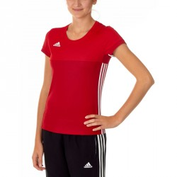 Adidas T16 Climacool T-Shirt Damen Power Scarlet Rot AJ5441