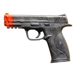 Hartgummi Pistole Schwarz