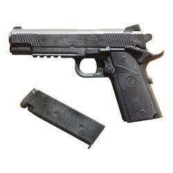 Hartgummi Pistole Magazin Schwarz
