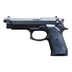 Hartgummi Pistole Schwarz 23cm