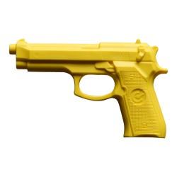 Hartgummi Pistole Gelb 23cm