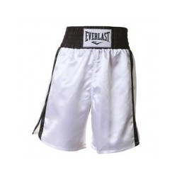 Everlast Pro Boxing Trunks white black 4413