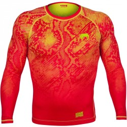 Abverkauf  Venum Fusion Compression T-Shirt LS Orange Yellow