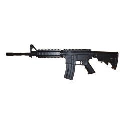 Gewehr Hartgummi M3 kurzer Schaft Schwarz