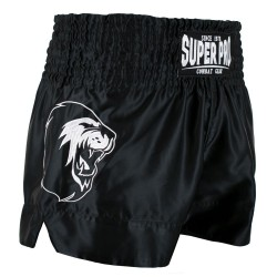 Super Pro Hero Thai Kickboxing Short Schwarz Weiss