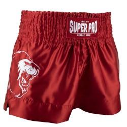 Super Pro Hero Thai Kickboxing Short Rot Weiss