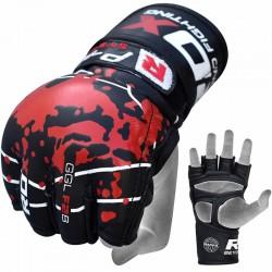 RDX Grappling Handschuh Leder F2 schwarz
