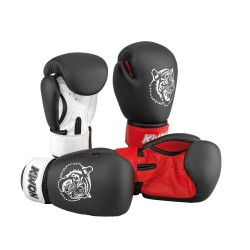 Kwon Kids Tiger 10oz Boxhandschuhe schwarz rot