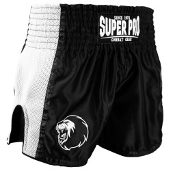 Super Pro Brave Thai Kickboxing Short Schwarz Weiss