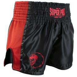 Super Pro Brave Thai Kickboxing Short Schwarz Rot