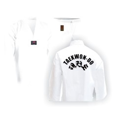 Taekwondo Anzug Weiss Mit Druck Junior