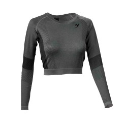 ju-Sports Gym Line Crop Top LS Seamless grau