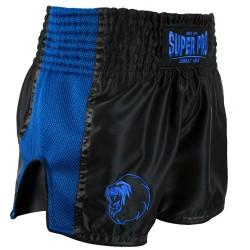 Super Pro Brave Thai Kickboxing Short Schwarz Blau