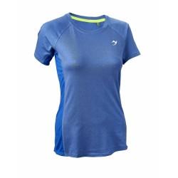 ju-Sports Gym Line Tee Basic blau