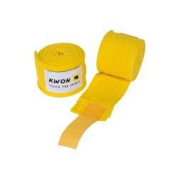 Kwon Boxbandagen elastisch 250cm gelb