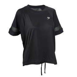 ju-Sports Gym Line Mesh Tee schwarz