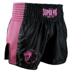 Super Pro Brave Thai Kickboxing Short Schwarz Pink