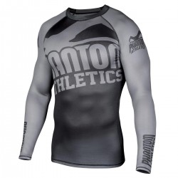 Phantom  Supporter 2.0 Rashguard Black Grey LS