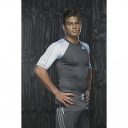 Abverkauf Adidas IBJJF Rashguard SS Black White