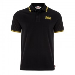 Lonsdale Bridlington Herren Slim Fit Poloshirt Black Yellow