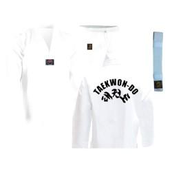 Taekwondo Anzug Dragon Mit Druck Weiss Junior