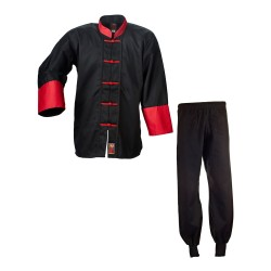 ju- Sports Kung Fu Anzug Cotton Black Red