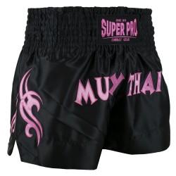 Super Pro Fighter Thaiboxing Short Black Pink