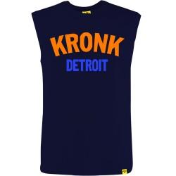 Kronk Two Colour Detroit SL T-Shirt Navy