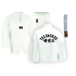 Taekwondo Anzug WTF Modell Mit Druck Weiss Junior