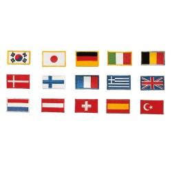 Kwon Stickabzeichen Flagge Belgien 5x3