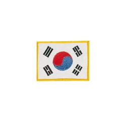 Kwon Stickabzeichen Flagge Korea 8x6